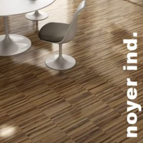 Parquet industriel sur chants massif en Noyer