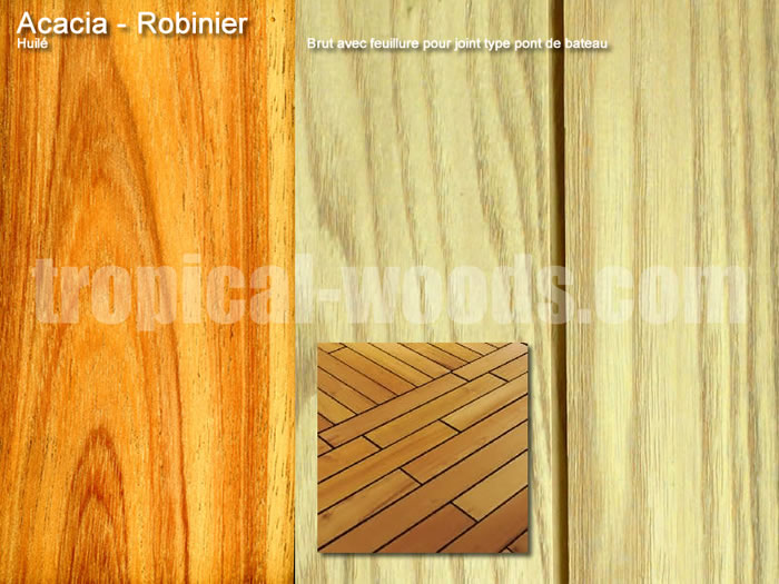 Parquet Industriel Acacia - 14 x 10/14 x 190 mm sur chants
