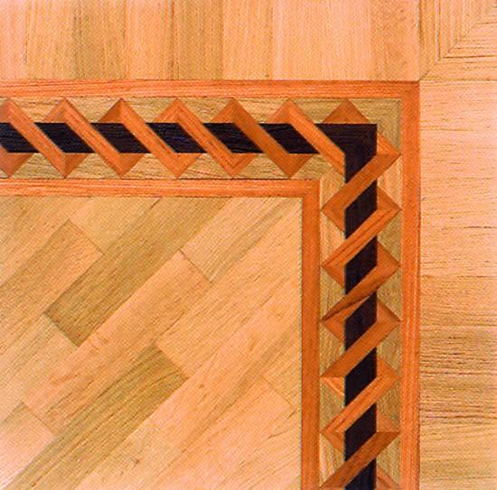 Frises de bordure en Marquetteries et panneaux