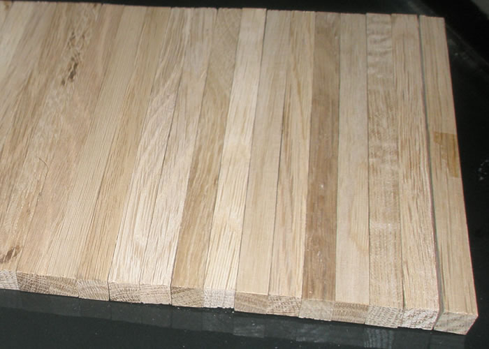Parquet Industriel Chene - 14 x 14 x 250 mm sur chants