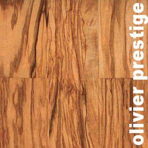 Parquet massif planchette Olivier - 10 x 50 x 250 mm - brut