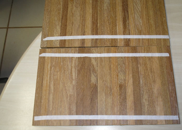 Parquet Industriel Cumaru - 14 x 17 x 210 mm sur chants massif