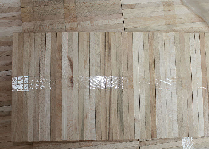 Parquet Industriel Hetre - 14 x 17 x 210 mm sur chants