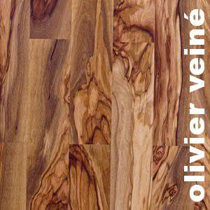 Parquet massif planchette Olivier Semi Veine - 10 x 60 x 300 mm - brut