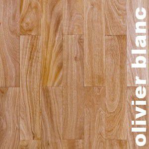 Parquet massif planchette Olivier blanc - 10 x 60 x 300 mm - brut