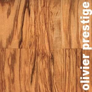 Parquet massif planchette en Olivier prestige