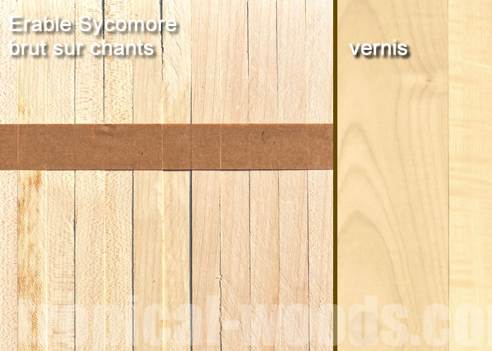 Parquet Industriel Erable EU - 23 x 08 x 160 mm sur chants massif