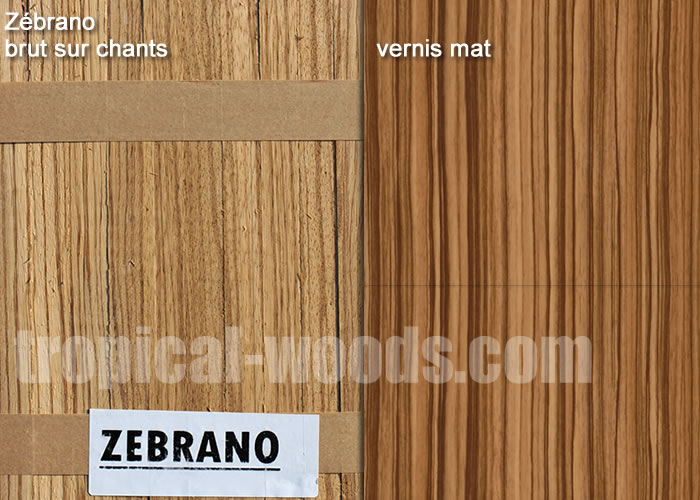 Parquet Industriel Zebrano - 14 x 210 x 300 mm sur chants