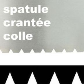 Spatule à dents pour colle à parquets - 6 x 6 mm