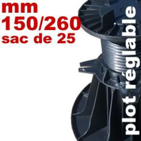 Plot réglable de type Soprema - 140 à 230 mm