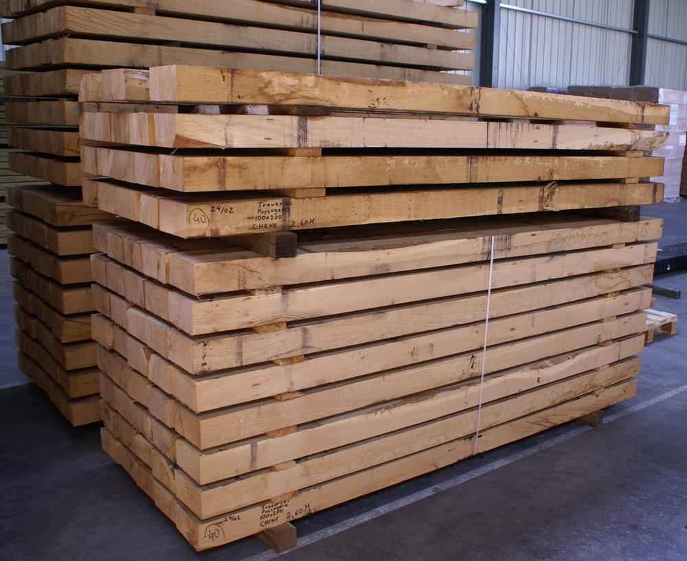 Traverses de chemin de fer chene 150 x 260 x 2600 mm - Acheter palette bois leroy merlin ...