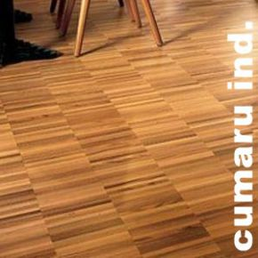 Parquet industriels sur chants massif en cumaru