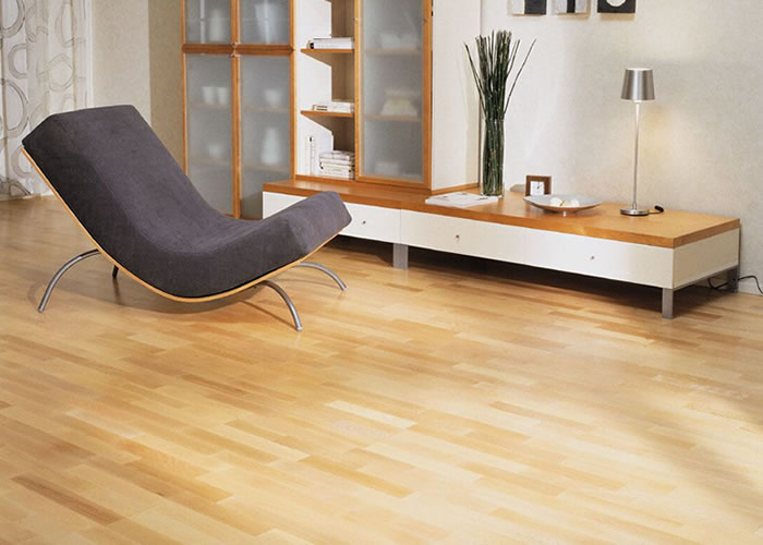 Parquet massif Hetre Select Europe - 14 x 90 mm - Brut