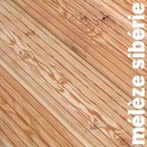 Terrasse - Lames parquet massif MELEZE - 22 x 105 mm - choix AB