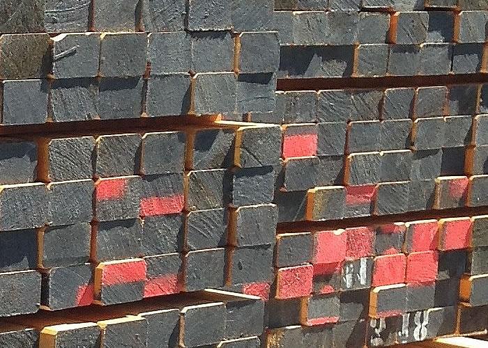 Lambourdes en doussié/moabi - 37 x 70 x 2000 à 2350 mm