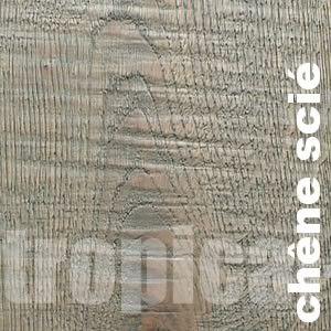 Parquet contrecolle Chene - 15 x 190 mm - huilé - gris - sciage - Reims