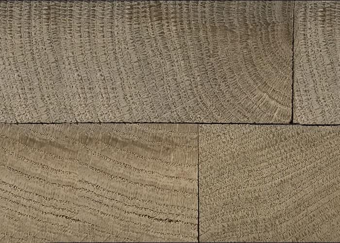 Parquet chêne massif damier en bois de bout - 13 x 432 x 432 - Brut