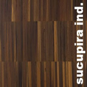 Parquet Industriel Sucupira - 14 x 17 x 210 mm sur chants massif
