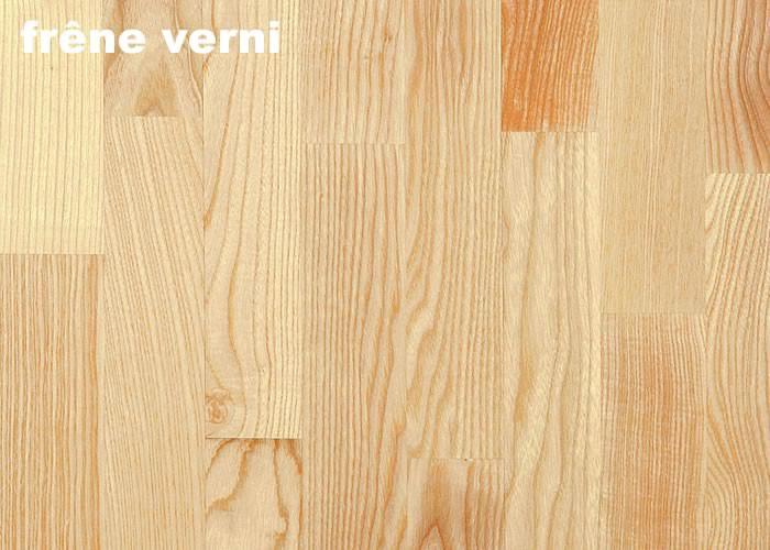 Parquet massif Frêne USA - 14 x 120 mm - Verni
