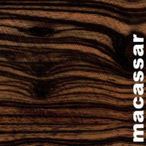 Parquet massif Ebene de Macassar - 13 x 75 x 700 mm - Brut