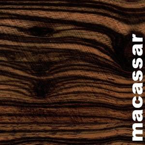 Parquet massif avec languettes en Ebène Coromandel de Macassar