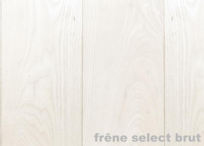 Parquet massif Frêne USA - 14 x 110 mm - Brut