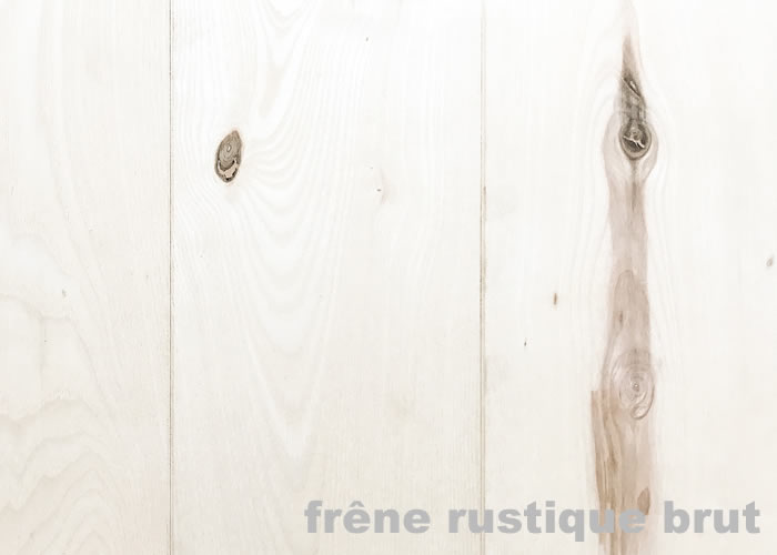 Parquet massif Frêne USA - 14 x 120 mm - Brut