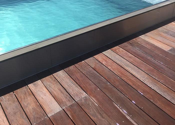 Terrasse - Lames parquet massif Ipe - 20 x 143 mm