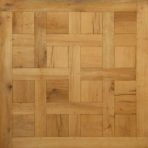Panneaux et motifs en chêne Premier / Rustique - 14 x 450 x 450 mm - Chantilly