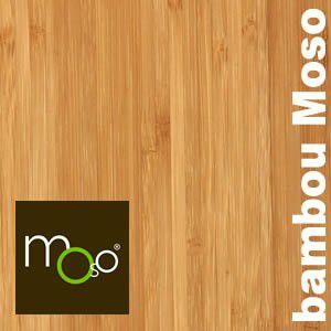 Parquet massif Bambou Purebamboo MOSO - 15 x 96 mm - Verni - Caramel - Horizontal