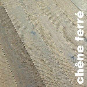 Parquet Contrecollé Chene Rustique/Campagne - 15 x 189 mm - huilé blanc - fumé - ferré