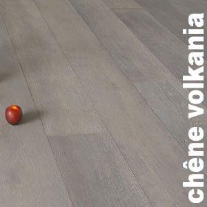 Parquet Contrecollé Chêne Rustique/Campagne - 14 x 240 mm - teinté foncé - huilé gris - LMVO