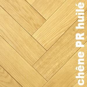 Parquet contrecollé Chêne Rustique / Campagne Bâton rompu - 12 x 90 x 400 mm - brut