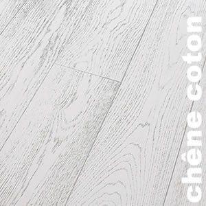 Parquet Contrecollé Chêne Rustique/Campagne - 12 x 145 mm - verni - Coton