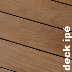 Terrasse - Lames parquet massif IPE - 20 x 140 x 2450 mm - Longueur fixe - 2 faces lisses