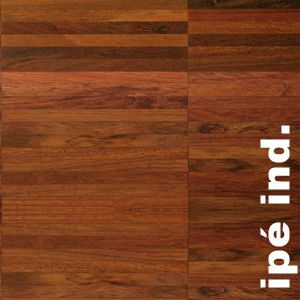 Parquet industriel sur chants en Ipe