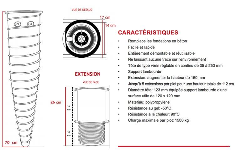 p r e m i u m hapax plot de fondations visser hapax. Black Bedroom Furniture Sets. Home Design Ideas