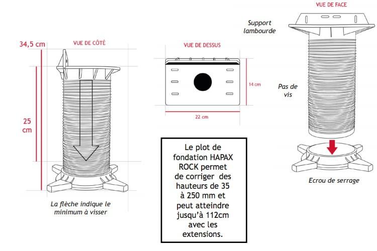 Hapax - Plot de fondations à visser - Hapax