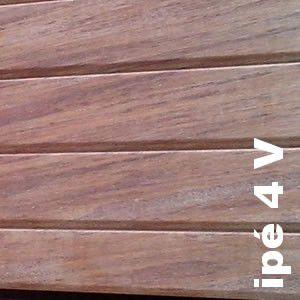 Terrasse - Lames parquet massif IPE - 20 x 140 x 1850 + mm - Strié 6V