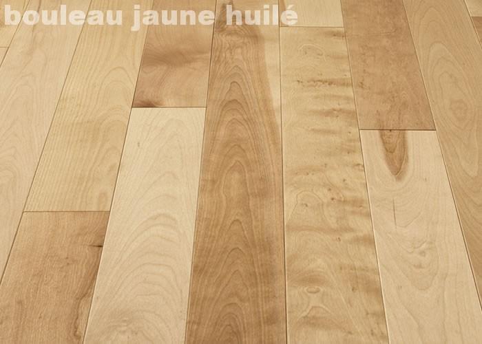 Parquet massif Bouleau Premier / Rustique - 23 x 70 mm - Brut - PROMO