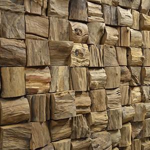Mosaiques Murales 3D bois massif en Panneaux muraux 3D
