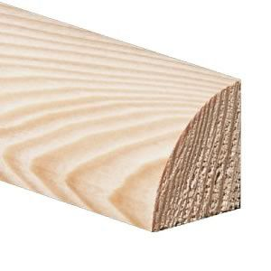 Quart de rond Merbau - 15 x 15 mm - Verni mat
