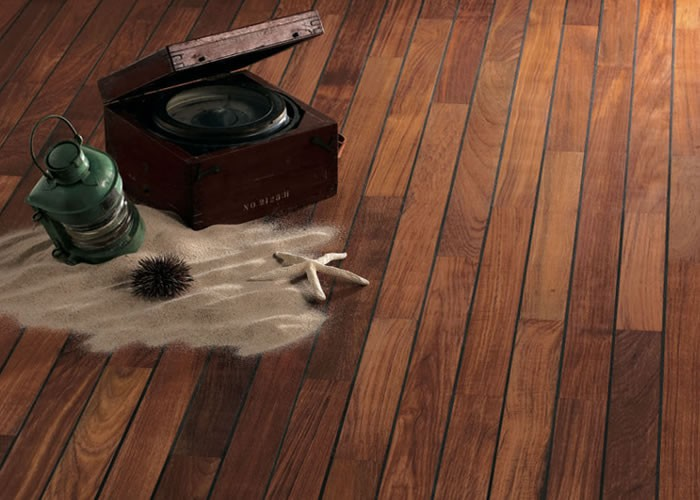 parquet contrecoll salle de bain en teck avec joint int gr tropical woods. Black Bedroom Furniture Sets. Home Design Ideas