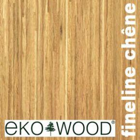 Parquet Contrecollé Fineline Ekowood Chêne - 13,5 x 195 x 2200 mm - Loc G5