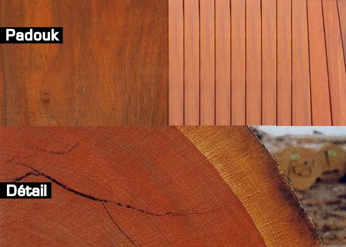 Terrasse - Margelle en padouk massif - 27 x 215 mm