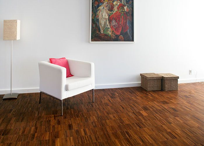 Parquet industriel Tajibo - 14 x 22 x 250 mm - sur chants