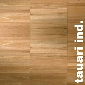 Parquet industriel sur chants en Tauari