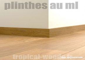 Plinthe en médium prépeinte blanche de très grande qualité différentes dimensions et finitions fabrication FRANCAISE Hauteur 7cm finition carré, 10 ml