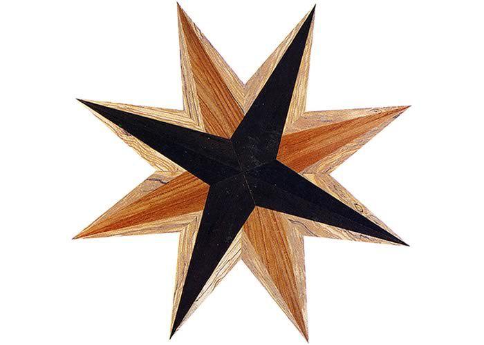 Rosace centre de piece en marqueterie Amleto 10 x 1000 mm
