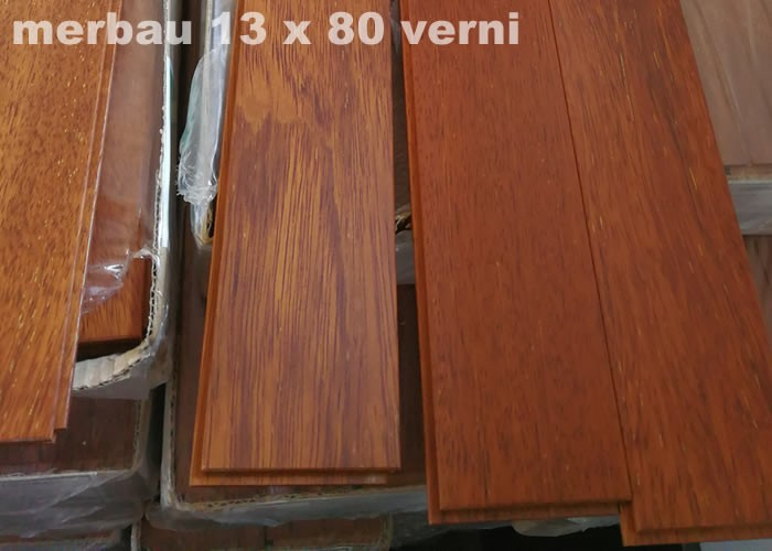 parquet massif merbau 13 x 80 mm verni mat promo. Black Bedroom Furniture Sets. Home Design Ideas